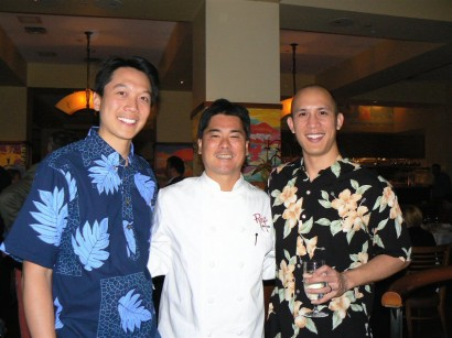 Performing_at_Roys_New_York_(Andy,_Chef_Roy_Yamaguchi_and_Darin)